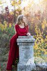 "Fantasy Linen Dress ""autumn Princess"""