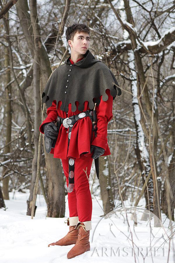 Medieval Woolen Coat Cotta Overcoat Garb for sale