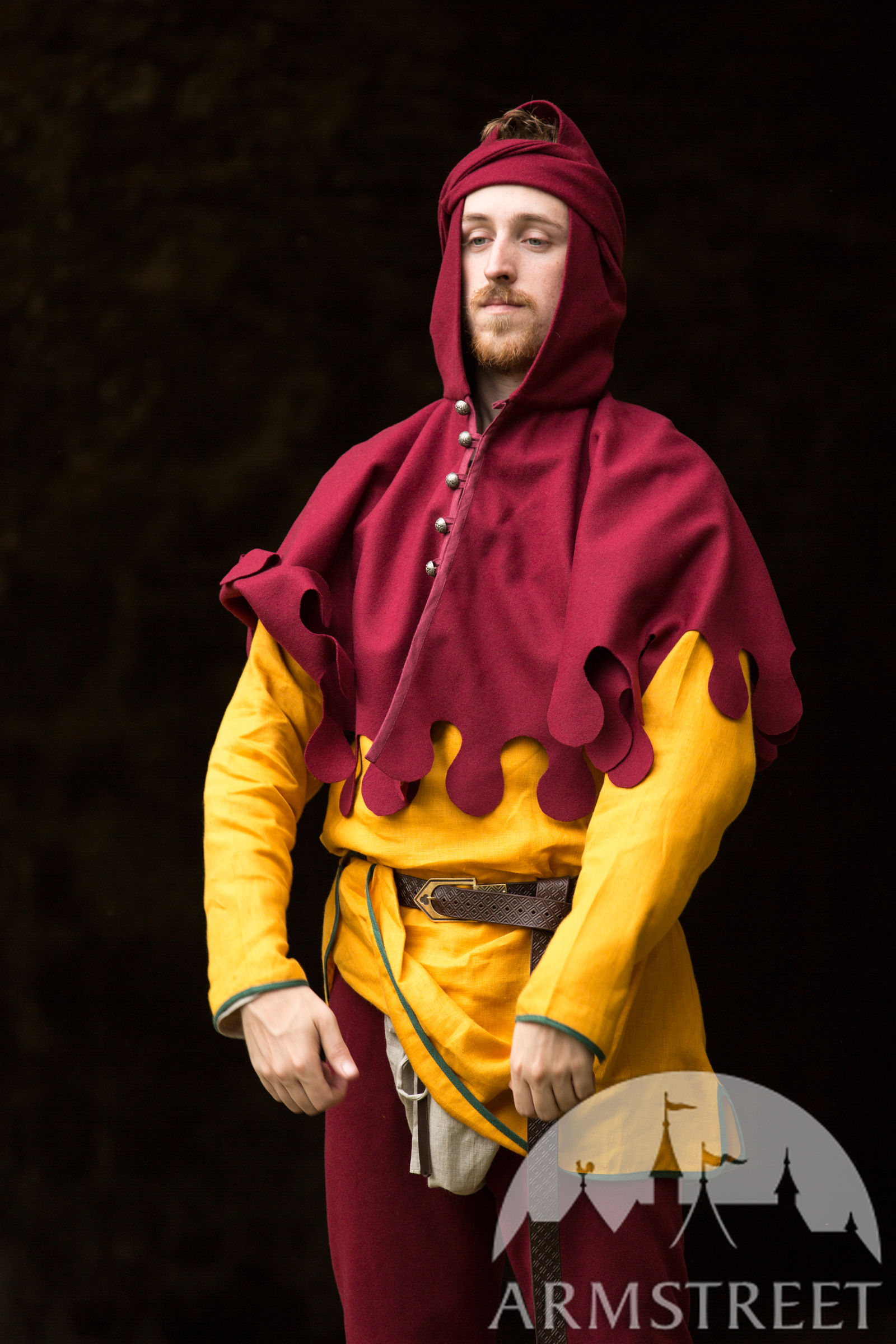 Medieval Woolen Hood Armor Bearer for Sale Available in