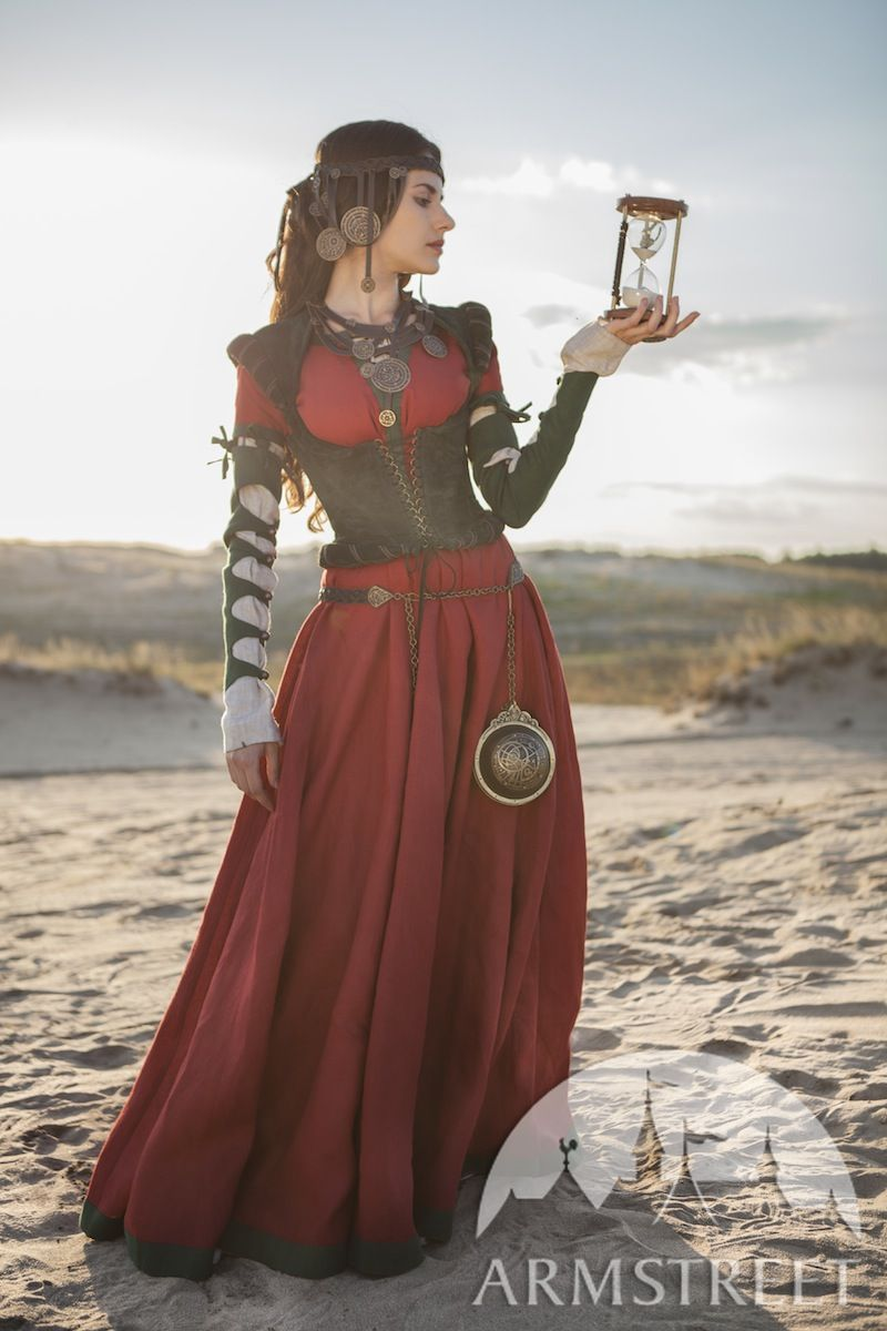 Exclusive renaissance and fantasy medieval costume corset The Alchemists daughter for sale