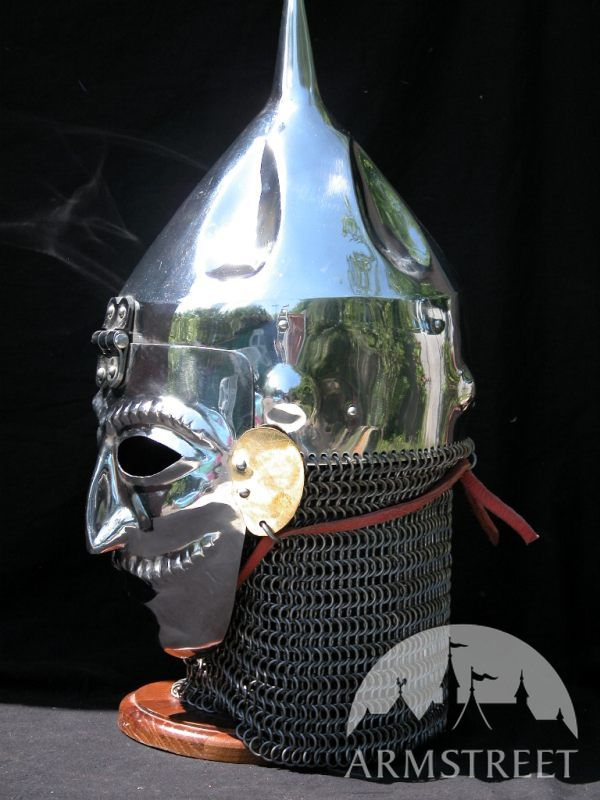 Polovec Slavic Cone Helmet With Facemask Visor for sale  by medieval store ArmStreet