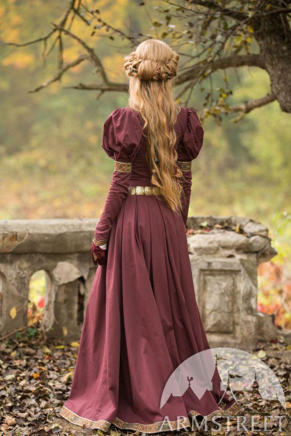 Princess In Exile Dress. Dark Blue Cotton