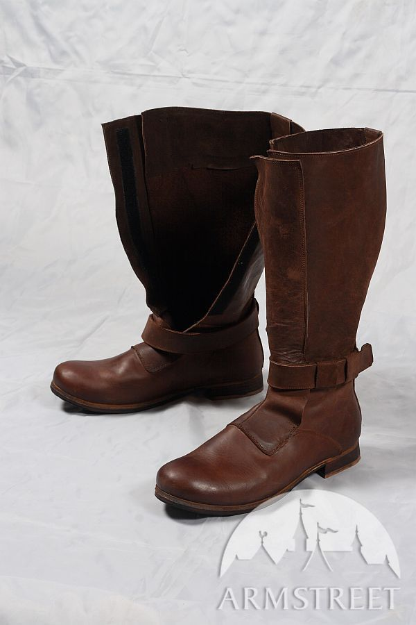 Renaissance High Leather Boots for sca and reenacment for