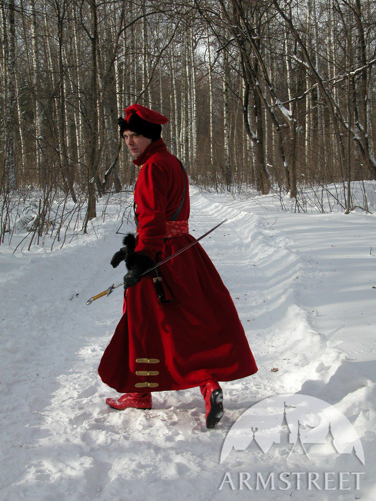 Traditional russian Strelets coat  for sale Available in black wool ivory wool grey wool