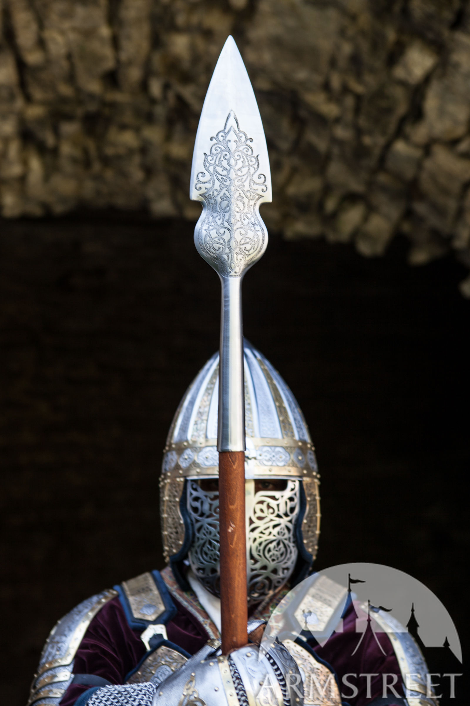 Stainless Spearhead King of the East Available in stainless  by medieval store ArmStreet