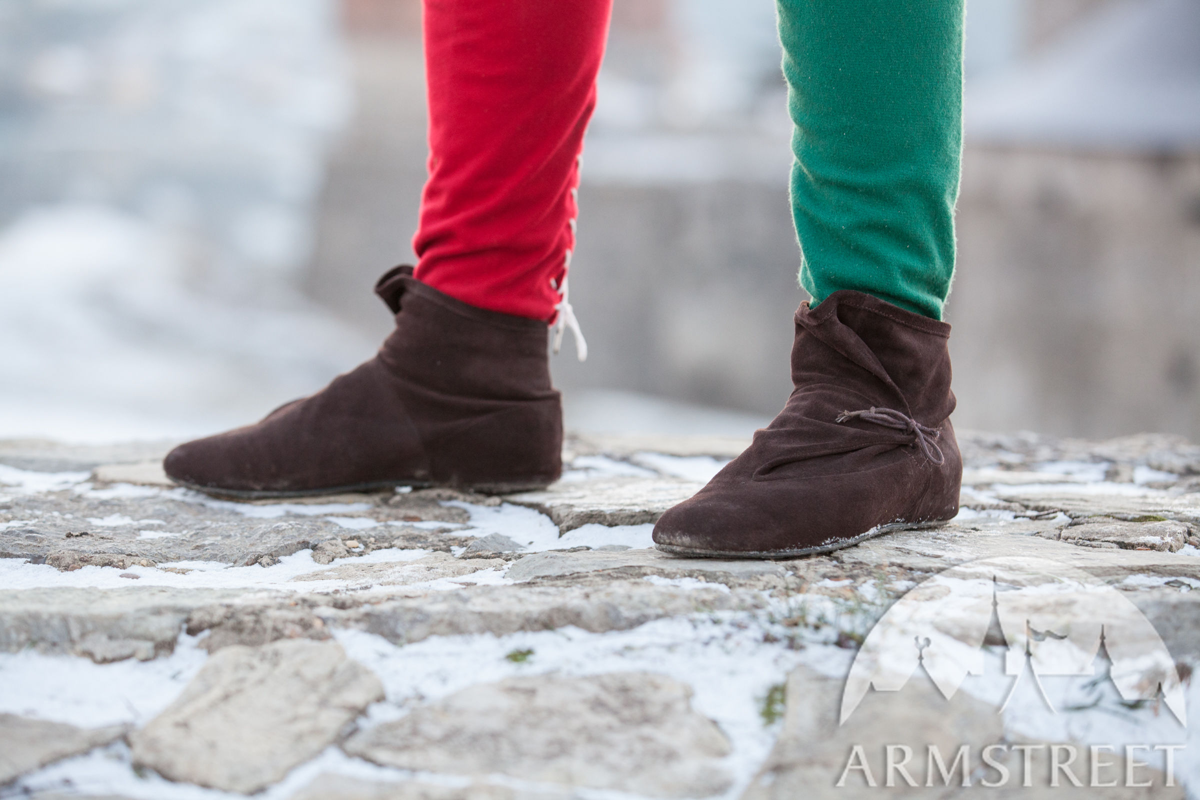 Tailor Made Leather Suede Soft Medieval Style Shoes Boots