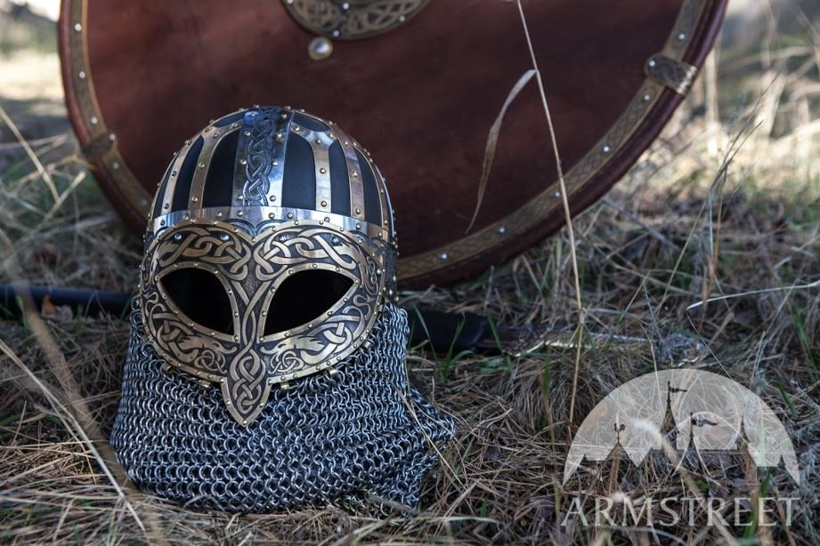 Black Silver Wallpaper Designs Viking Combat Helmet Valsgarde Available In Brown