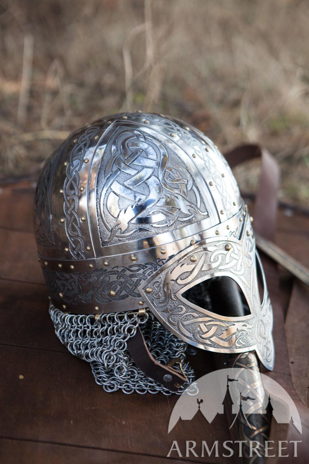 Exclusive Vikings Valsgaarde Stainless Steel Helm