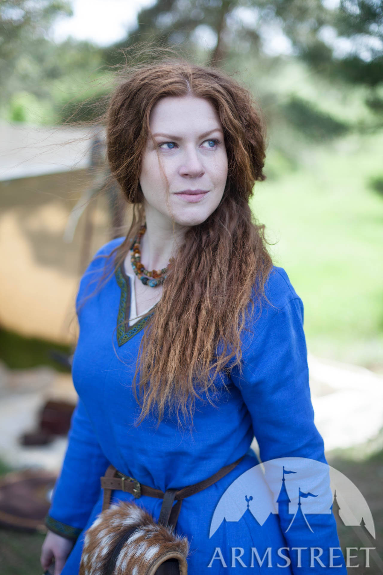 Viking Linen Dress Ingrid the Hearthkeeper Available in