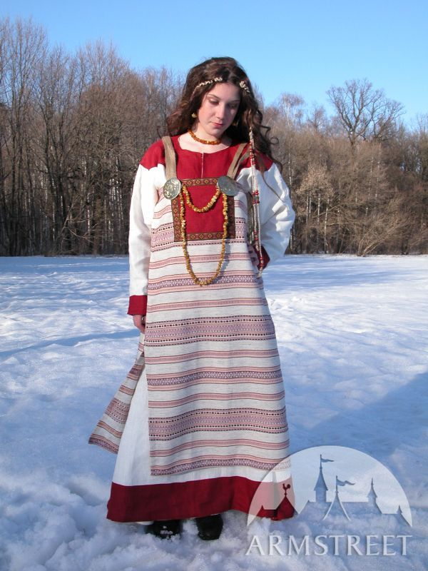 Norman Viking flax linen tunic dress and gown for sale Available in green flax linen blue