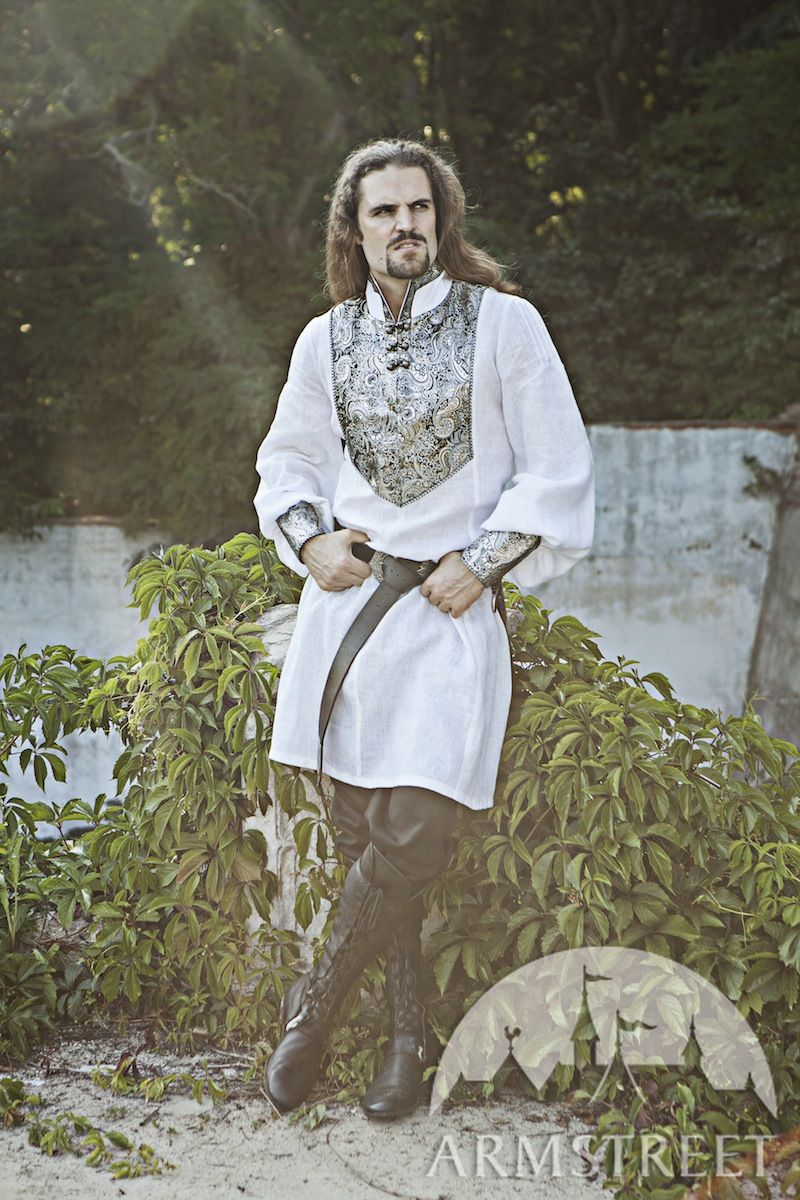 Medieval Wedding Mens Shirt Available in black fine