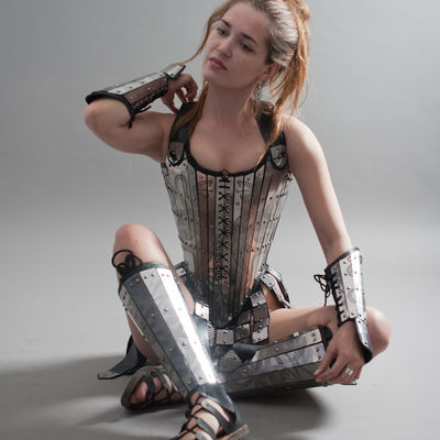 Lady Warrior Corset Armor For Sale Available In Brass