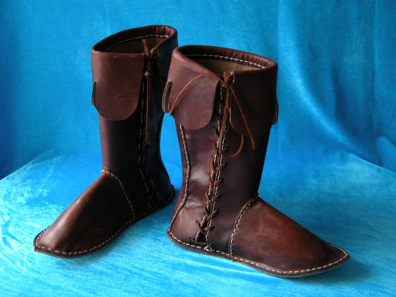 These great boots are made in early middle ages style.