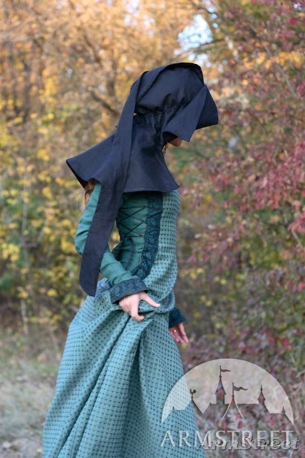 Mittelalter Kleidung Fr Die Frau die Herbststimmung kaufen Vorhanden in blaues leinen