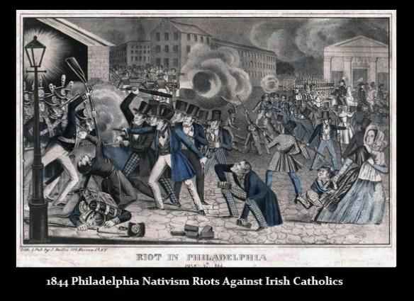 1844 Phila Nativism Riot Againt Irish