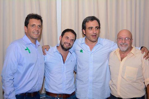 Roberto y Emiliano Gramigna Junto a Sergio Massa en Santa Fe.