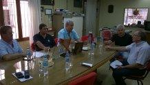 Crossetti se reunió con representantes del sindicato de Luz y Fuerza.
