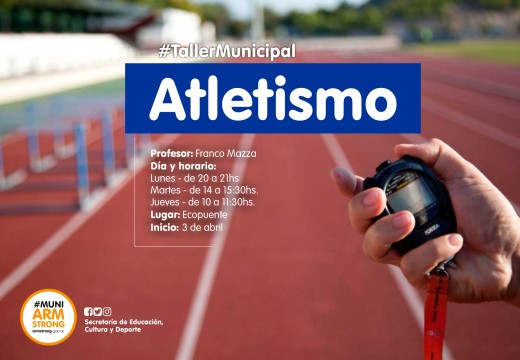 Armstrong. Escuela Municipal de Atletismo 2018.