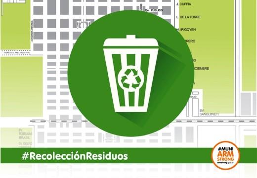 Armstrong. El lunes 24 de febrero habrá recolección de residuos.