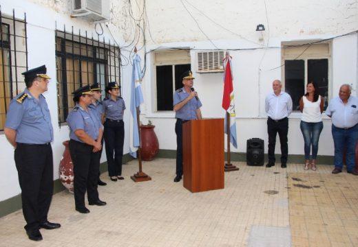Cañada de Gomez. Leiva participó de la asunción del nuevo Jefe de Policía.