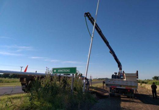 Nuevas obras de iluminación sobre la Ruta Provincial Nº 15