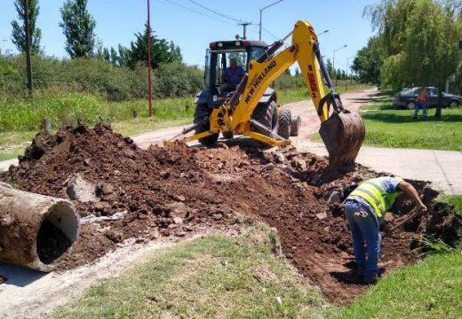 Cañada avanza con trabajos de obra pública.