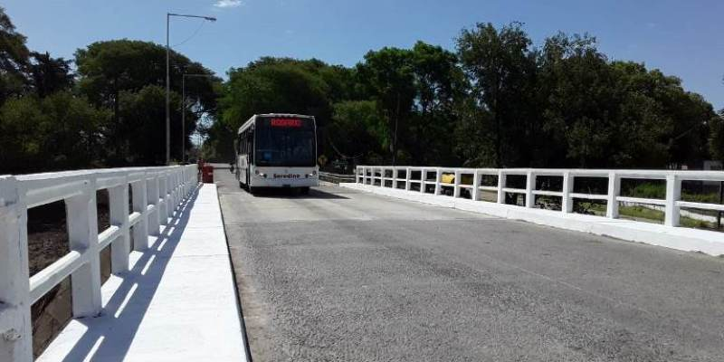 Finalizaron las obras en el Puente de RN 11 sobre el Rio Carcaraña.