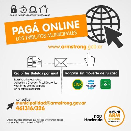 Armstrong. Gestiones relacionadas al municipio cuenta con Sistema de Pagos Online