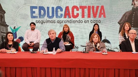 La provincia presentó un ciclo televiso para acompañar el proceso educativo en contexto de pandemia