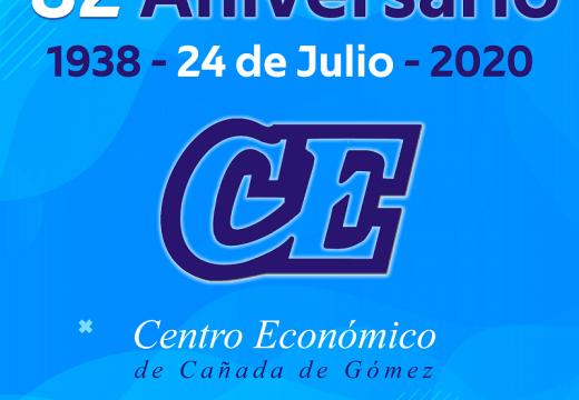 82 aniversario del Centro Económico de Cañada de Gómez.