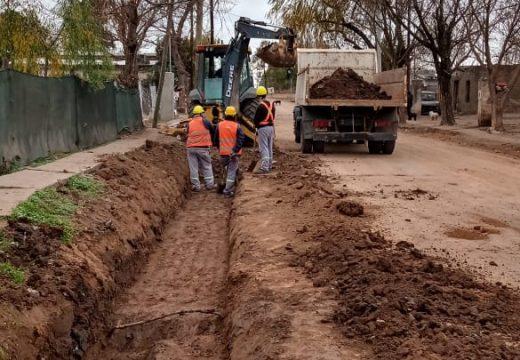 Municipio cañadense avanza con nuevos trabajos para pavimento.