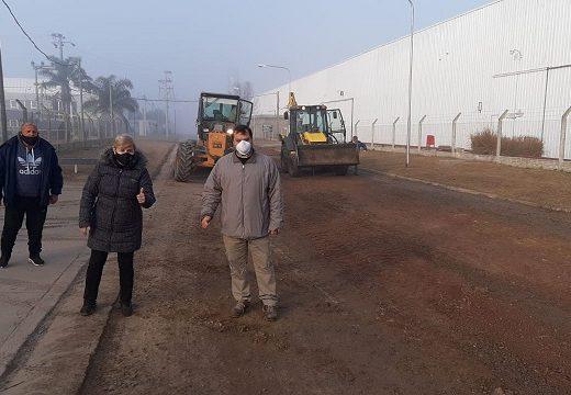 Clerici recorrió trabajos en el Parque Industrial.