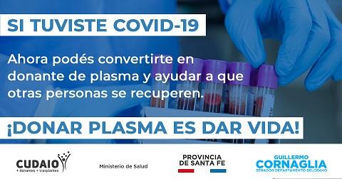 El Departamento Belgrano se suma a las acciones para donar plasma.