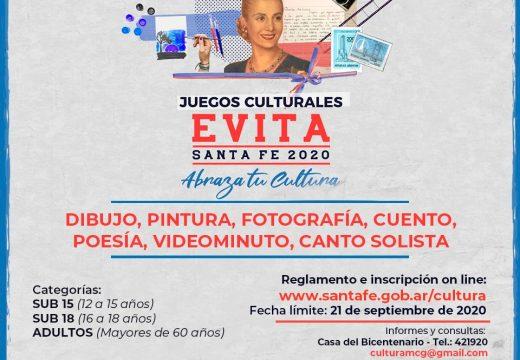 Cañada de Gómez- El municipio invita a participar de los juegos culturales Evita Santa Fe 2020.