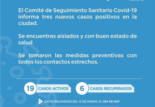 Se confirman 3 nuevos casos de Covid-19 en la ciudad de Cañada de Gómez.