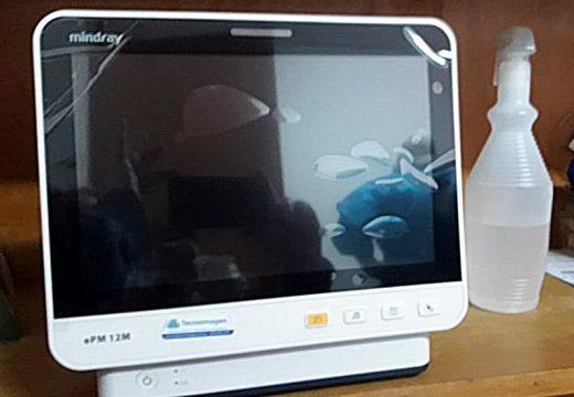 El SAMCo Las Rosas fue provisto de un monitor multiparamétrico
