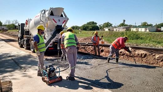 Cañada de Gómez. Municipio continúa pavimento en Bv. López.