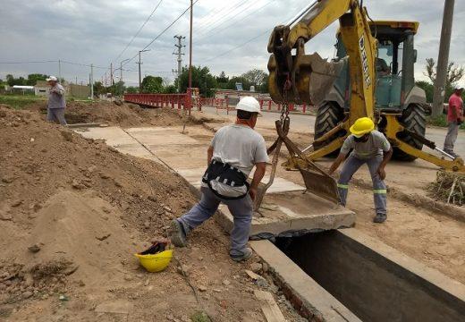 Cañada de Gómez. Municipio continua trabajos de obras públicos.