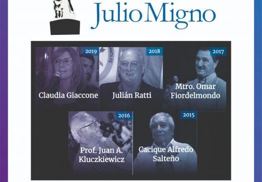 Una nueva edición del Premio Provincial Julio Migno se pone en marcha.