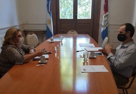 Rasetto se reunió con la ministra de salud de la Provincia.