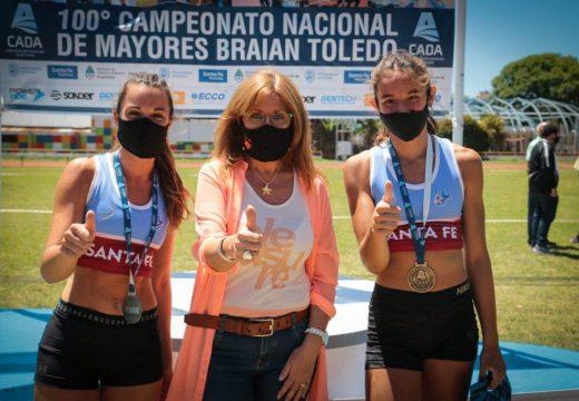 """Destacada participación santafesina en Campeonato Nacional de Atletismo """"Braian Toledo""""."""
