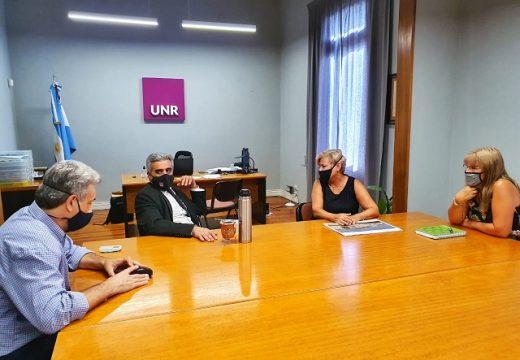 Encuentro de Clérici y Casalegno con el rector de la UNR.