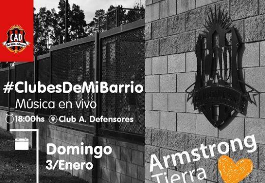 Hoy, Armstrong Tierra Mía en el Club Atlético Defensores.