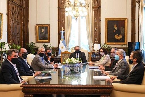 Alberto Fernández recibió a la Mesa de Enlace en Casa Rosada.