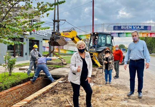 Cañada de Gómez. Municipio continúa con trabajos en avenida Santa Fe.