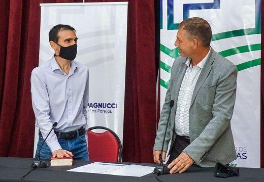 Marcos Pistelli asumió como Secretario de Industria de Las Parejas.