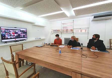 Cañada de Gómez. Clérici se reunió con la comunidad educativa del profesorado y diputados por el terreno para el edificio propio.