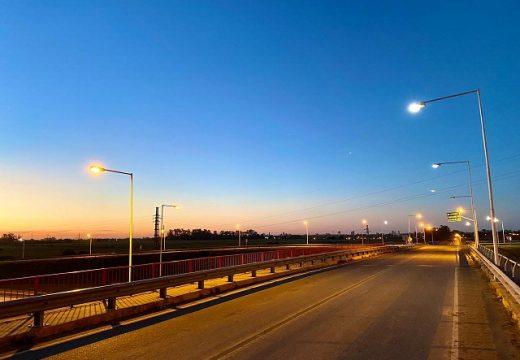 Cañada de Gómez. Tras gestiones de la intendenta se repararon luminarias del acceso a la autopista.
