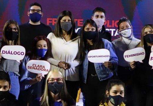 Más de 1.500 jóvenes de toda la provincia dieron su apoyo a Clara García.