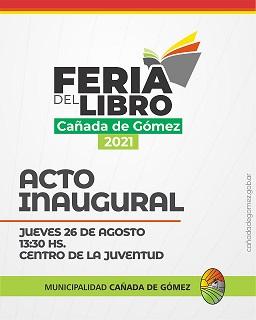 Cañada de Gómez. Viví la Feria del Libro 2021 en el nuevo centro de la juventud.